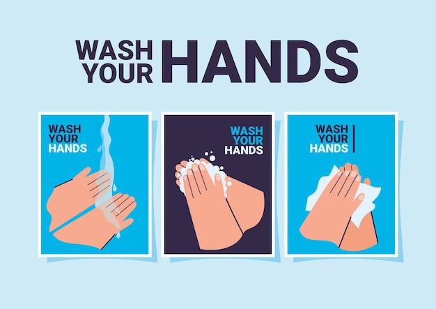 Jeu de cartes mains propres