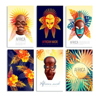 Jeu de cartes masque africain