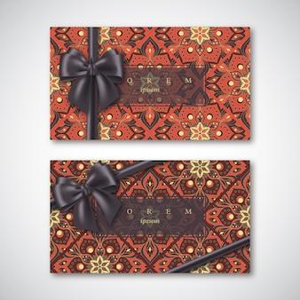 Jeu de cartes de style oriental