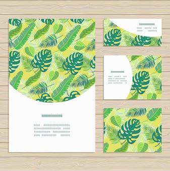 Jeu de cartes sur le thème des feuilles de la jungle tropicale.