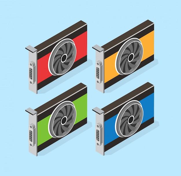 Jeu de cartes vidéo de bitcoin minier