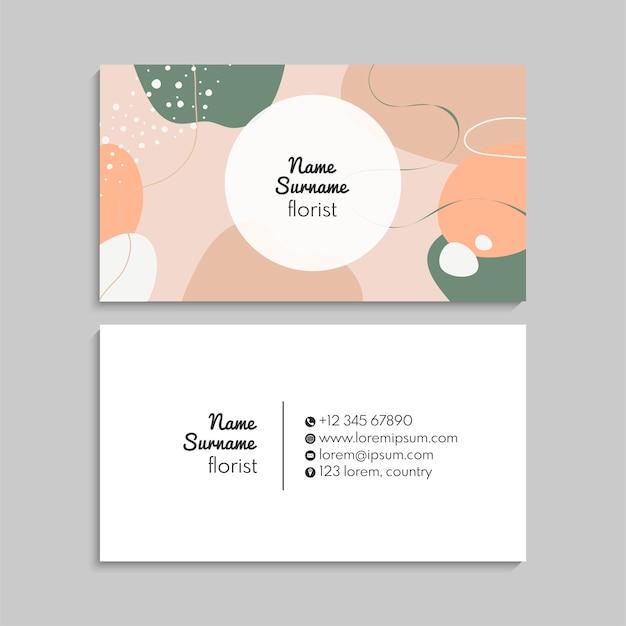 Jeu de cartes de visite. illustration vectorielle. eps10