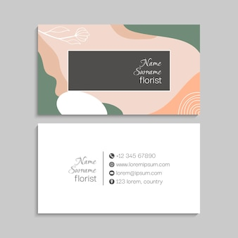Jeu de cartes de visite.