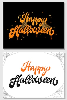 Jeu de cartes de voeux halloween, invitations