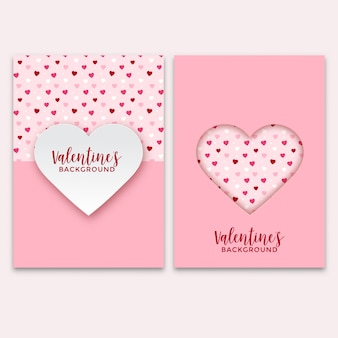 Jeu de cartes de voeux saint valentin