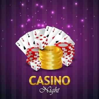 Jeu de casino en ligne avec cartes à jouer et pièce d'or