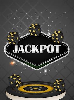 Jeu de casino en ligne avec illustration vectorielle