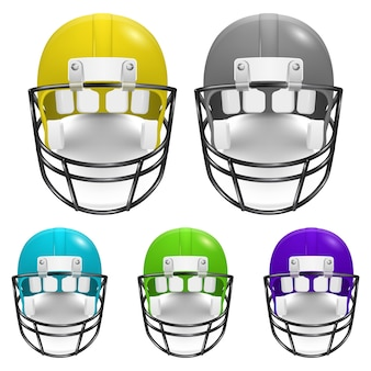 Jeu de casques de football américain.