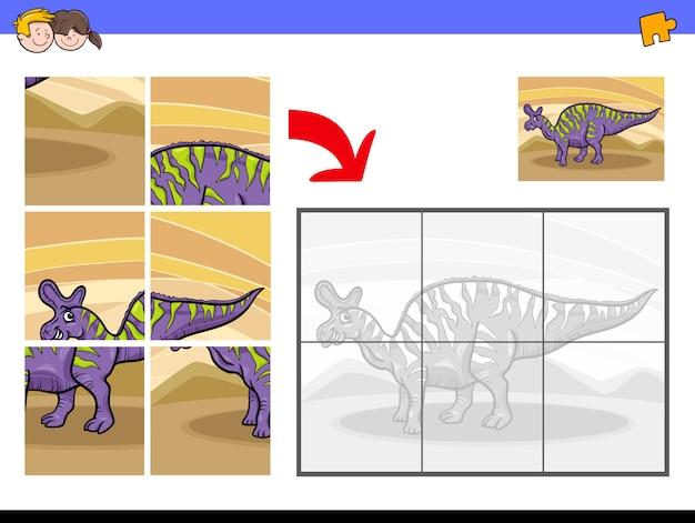 Jeu de casse-tête pour enfants avec personnage de dinosaure