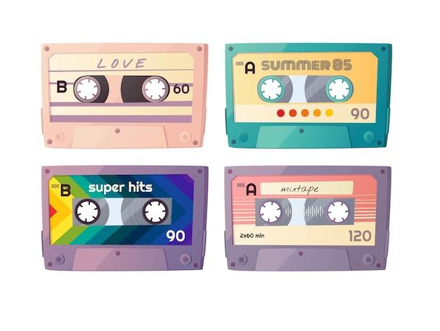 Jeu de cassettes audio rétro.