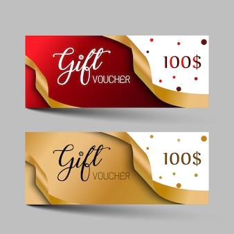 Jeu de chèques cadeaux de luxe saint valentin.