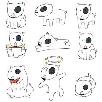 Jeu de chien, bull terrier vectorielles