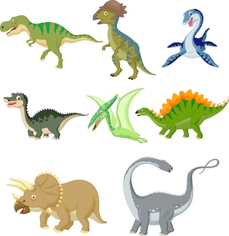 Jeu de collection de dinosaures
