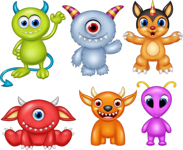 Jeu de collection de monstres de dessin animé
