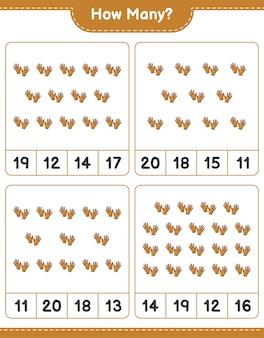 Jeu de comptage combien de gants de golf feuille de travail imprimable jeu éducatif pour enfants