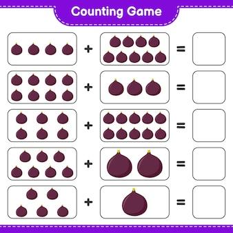 Jeu de comptage, compte le nombre de fig et écris le résultat.