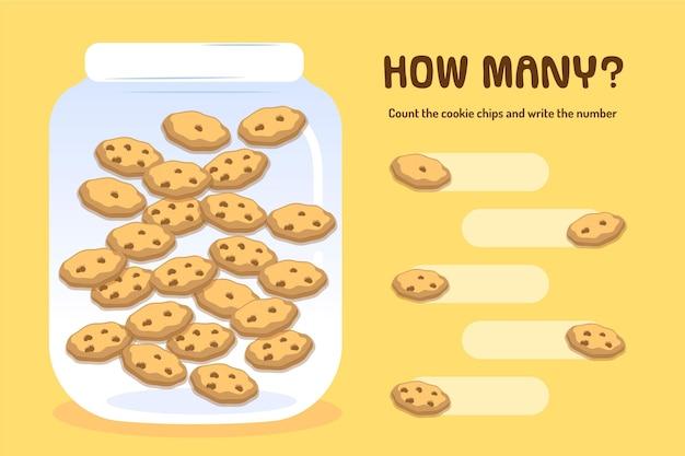 Jeu de comptage avec des cookies