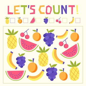 Jeu de comptage avec fruits