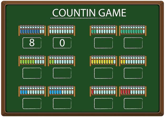 Un jeu de comptage sur tableau