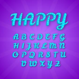 Jeu de conception créative vecteur typographique