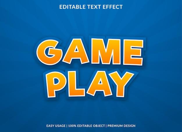 Jeu de conception de modèle d'effet de texte avec style cartoon