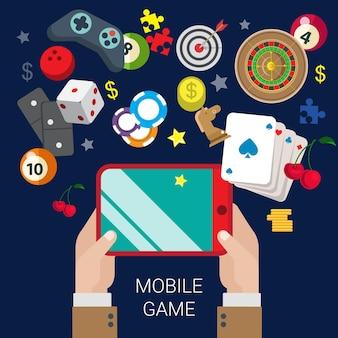 Jeu de console de jeu vidéo de casino en ligne de casino mobile
