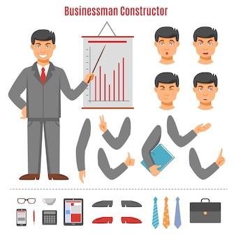 Jeu de constructeur homme d'affaires