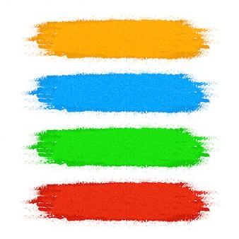 Jeu de couleurs de peinture