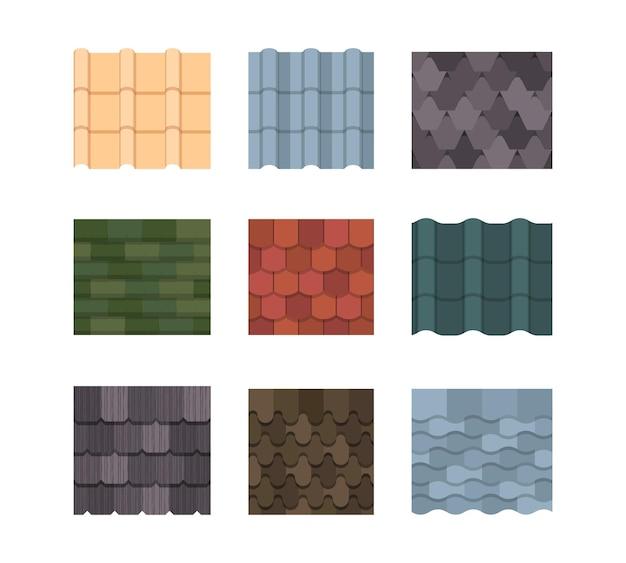 Jeu de couleurs de toit de tuiles