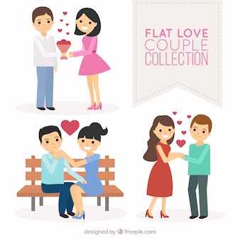 Jeu de couples heureux en amour