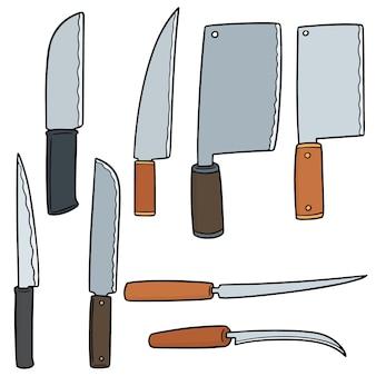 Jeu de couteaux vectorielles