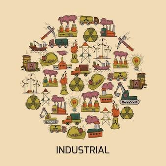 Jeu de croquis industriel