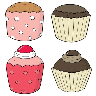 Jeu de cupcakes vectorielles