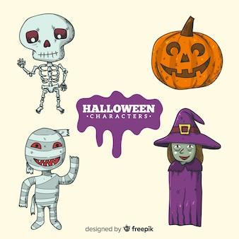 Jeu de caractères d'Halloween
