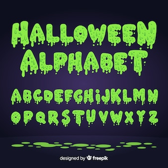 Jeu de l'alphabet d'Halloween