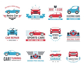 Jeu de logo de voiture
