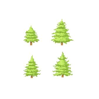 Jeu de sapin de Noël pixel