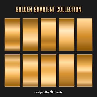 Jeu de dégradé de texture métallique doré
