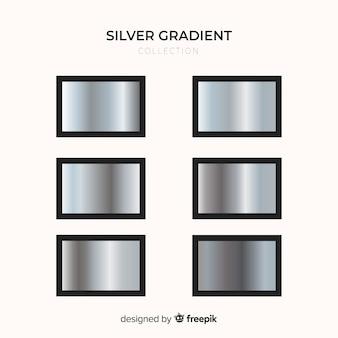 Jeu de dégradés argentés de texture métallique