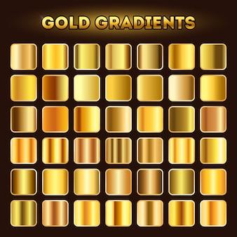 Jeu de dégradés d'or