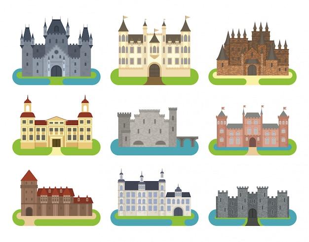 Jeu de dessin animé de château