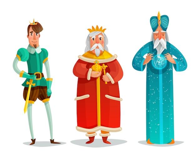 Jeu de dessin animé de personnages royaux