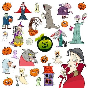 Jeu de dessin animé de vacances halloween