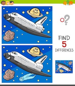 Jeu de différences avec la navette spatiale