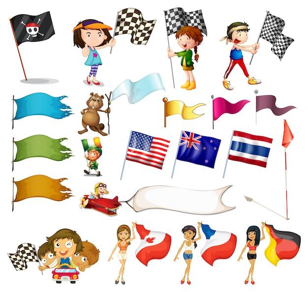 Jeu de drapeau