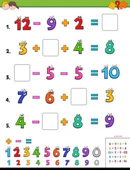 Jeu éducatif de calcul mathématique pour les enfants