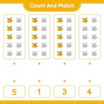 Jeu éducatif comptant le nombre de cloches de noël et correspondant aux bons chiffres