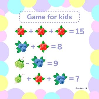 Jeu éducatif et mathématique