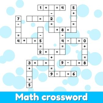 Jeu éducatif de mathématiques pour les enfants d'âge préscolaire et scolaire.