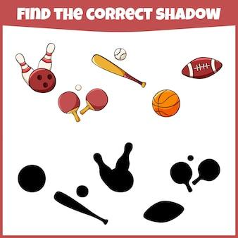 Jeu éducatif pour enfants trouvez la bonne ombre mini-jeu pour enfants